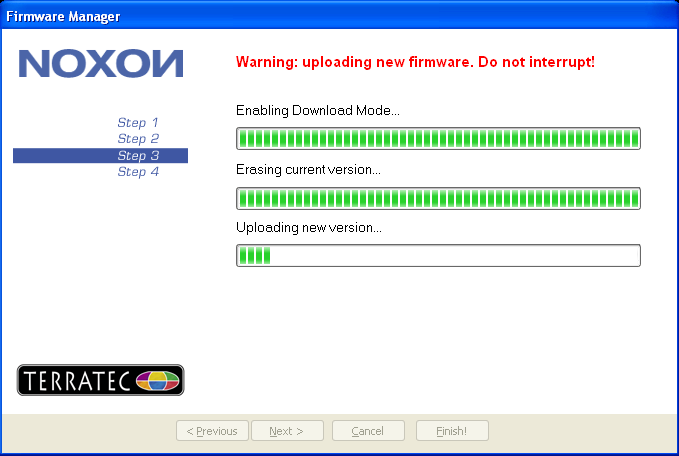 NOXON iRadio 04 Update running