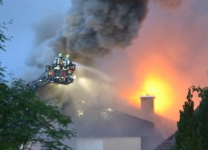 Die Feuerwehr war innert wenigen Minuten da
