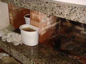 Der Kamin wurde zur Wasserleitung