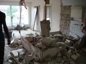 Küche und Bad werden umgebaut