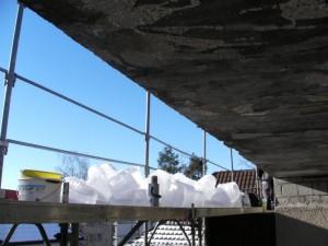Mega-Eiswürfel, die provisorische Isolation hat gehalten
